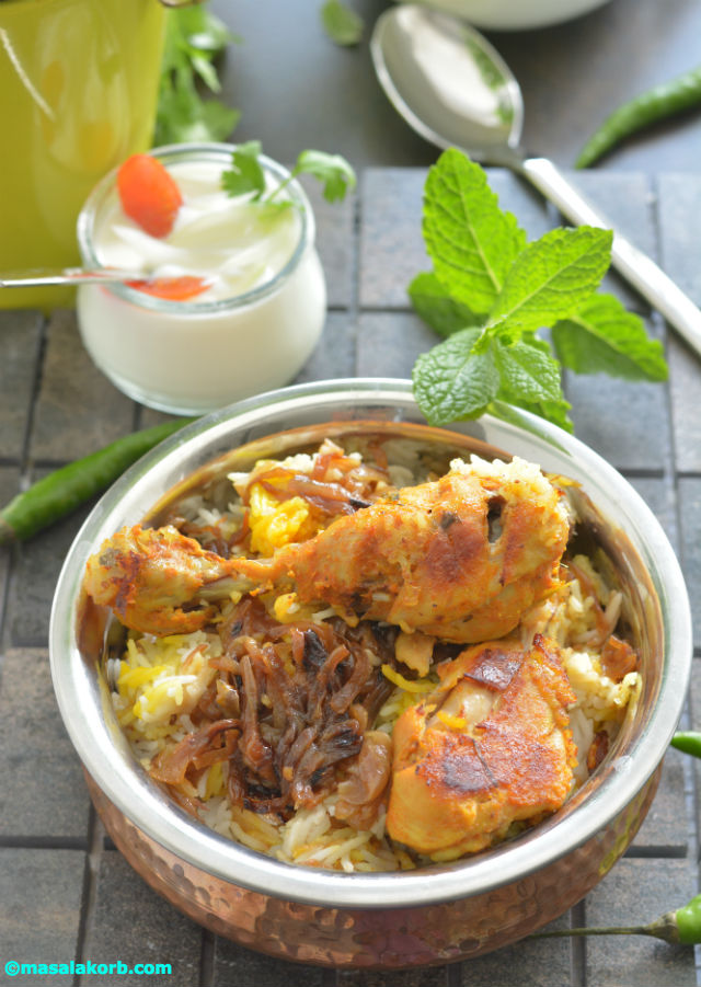 Chicken dum biriyani