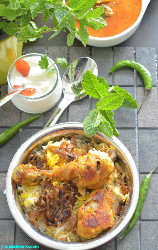 chicken dum biriyani My 100th Blog Post Chicken Dum Biriyani
