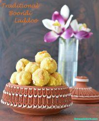 Traditional boondi laddoo