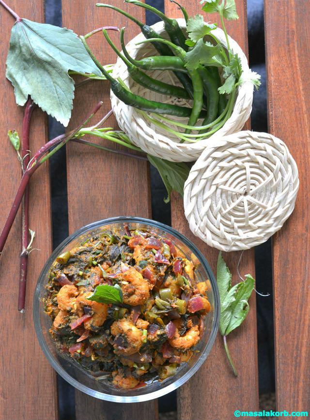 Gongura Prawns Recipe V2