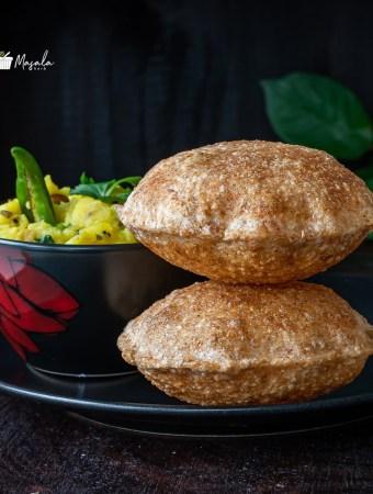 Poori Bhaji served on a plate