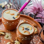 Payasam served in earthenware glasses