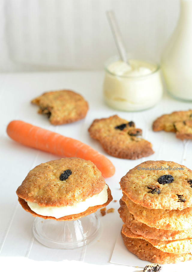 Carrot Cake Sandwich Cookies Cream Cheese Filling