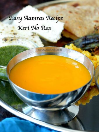 Easy Aamras Recipe | Keri No Ras (Mango Dip)