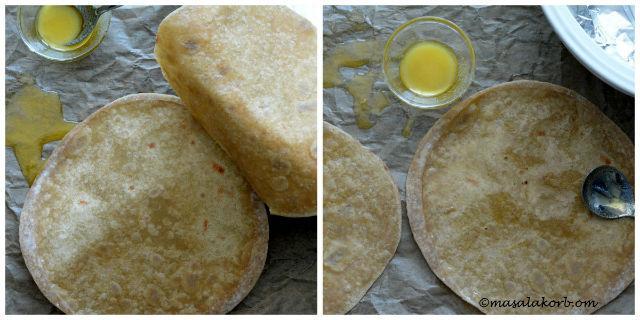 Gujarati Pad Wali Roti (Be Padi Rotli)   Two Layer Roti