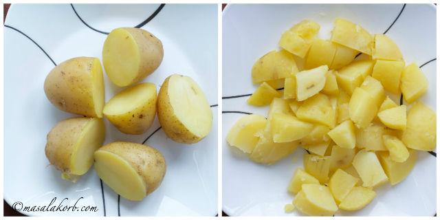 step1-boiling potaoes