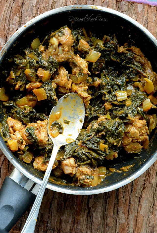 how to prepare gongura chicken fry