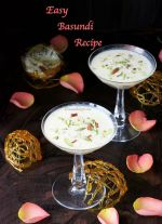 Easy Basundi Recipe Caramel Basundhi Sweet