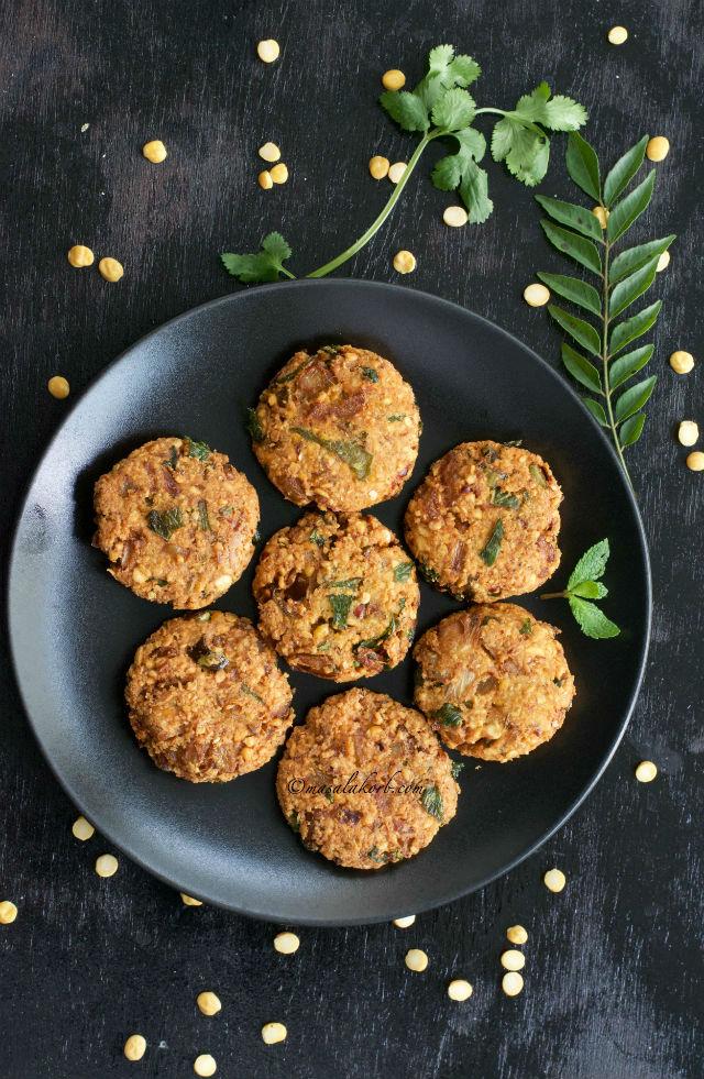 Masala Vada South Indian Recipe, Paruppu Vadai