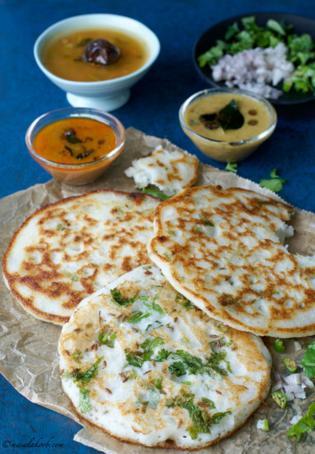 South Indian Onion Uttapam Recipe, Onion Uthappam, Uttappa
