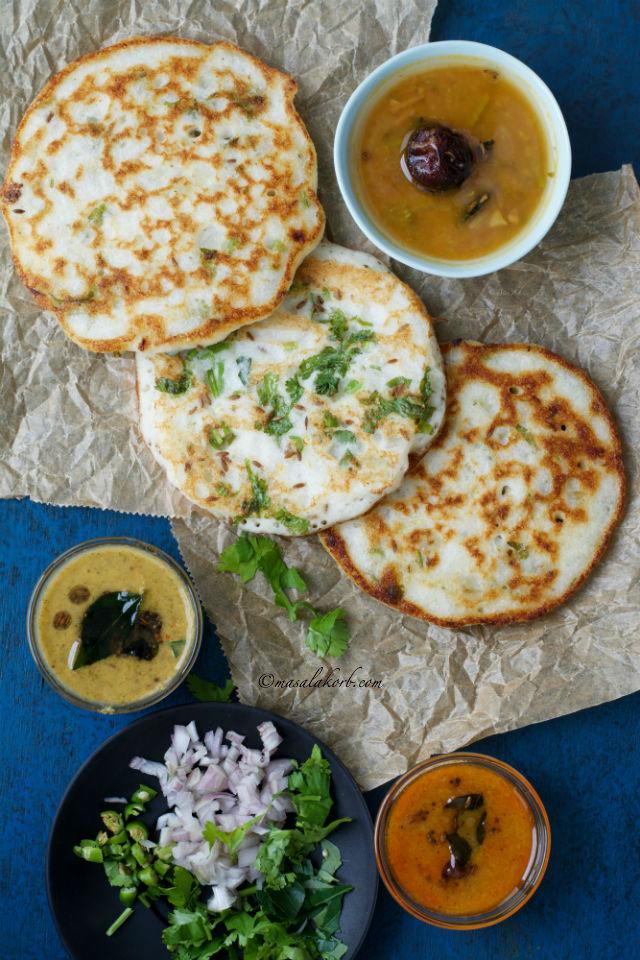 South Indian Onion Uttapam Recipe, Onion Uthappam, Uttappa