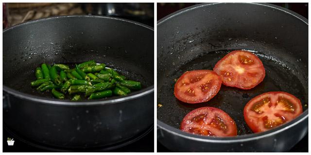 Kalchina Vankaya Tomato Pachadi, Roasted Eggplant Chutney