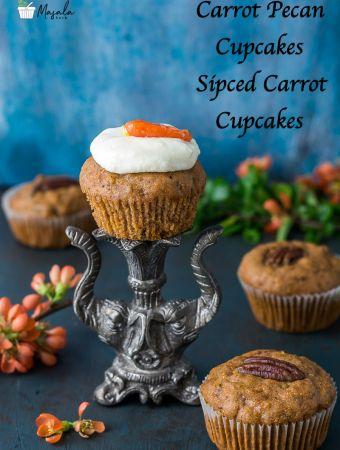 Carrot Pecan Cupcakes