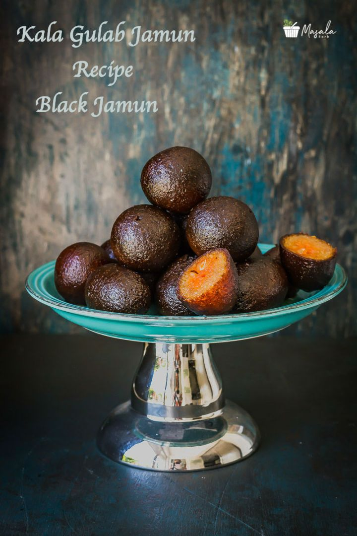 Kala Gulab Jamun Recipe - Black Jamun