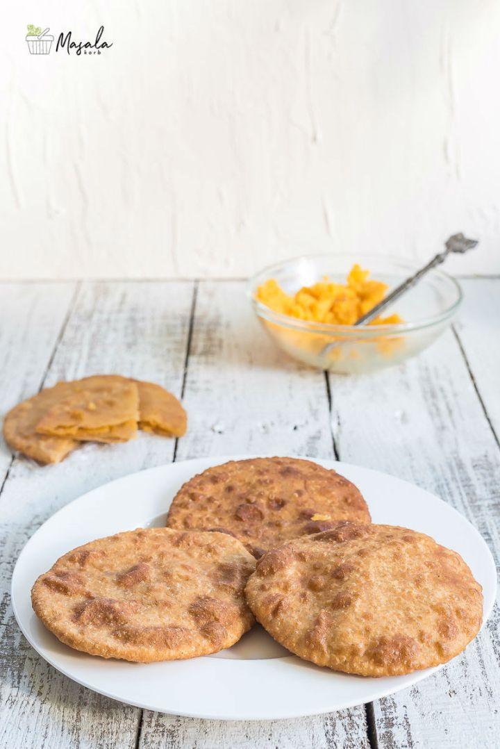 Halwa Poori Recipe/Sojjappalu Stuffed Sweet Poori