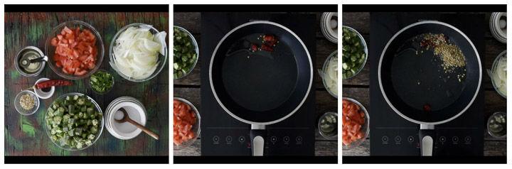 Bhindi Tomato Curry Step1