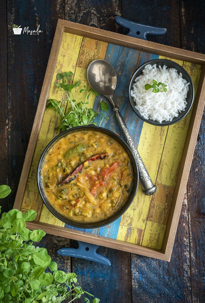 Menthi Kura Pappu Recipe - Fenugreek Dal