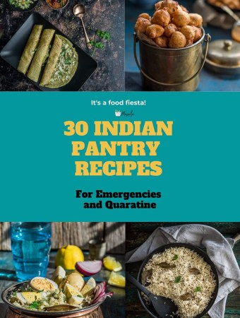 Display of few Pantry Recipes that can be prepared for emergencies