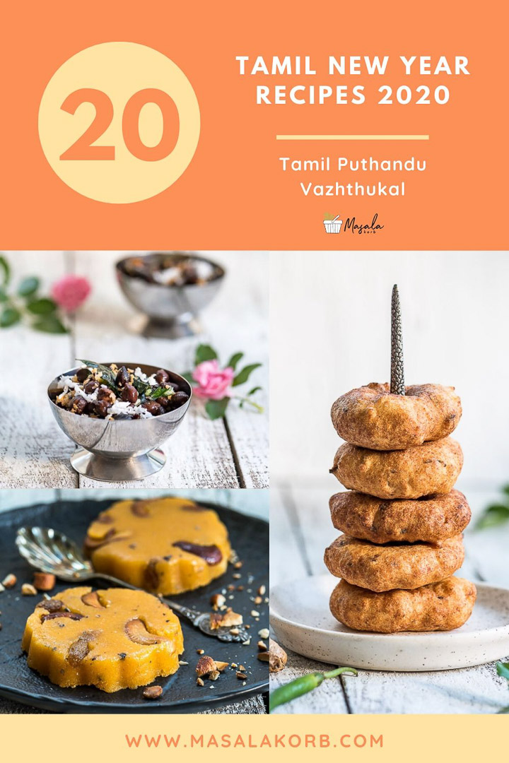 Display of few Tamil New Year Recipes to prepare for the festival.