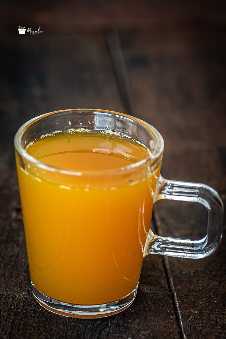 Haldi tea in a cup.