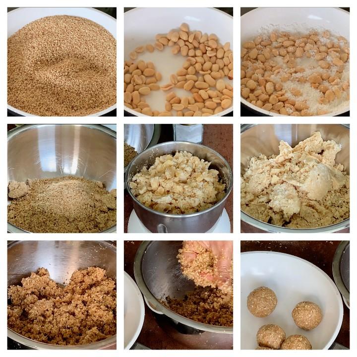 Sesame Laddu Recipe Steps