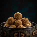 Sesame Laddu stacked in a bowl