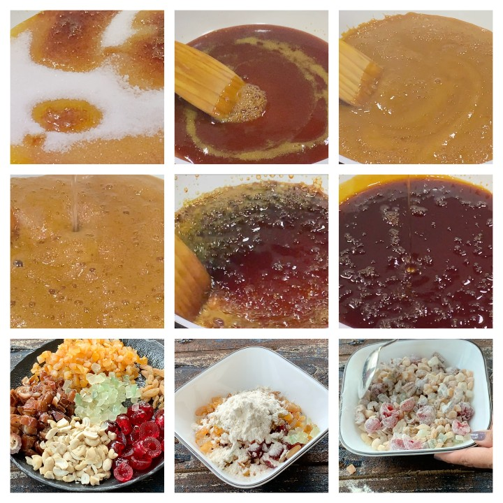 plum cake recipe caramel syrup making steps