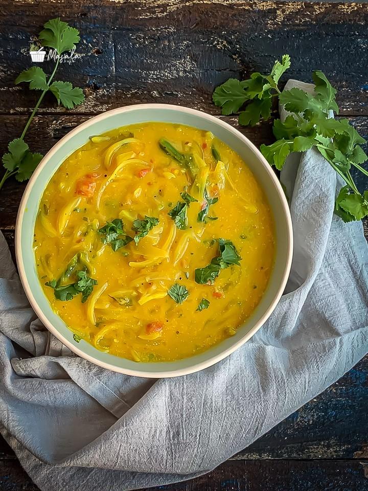 Bombay chutney recipe andhra style, Besan chutney served in a bowl