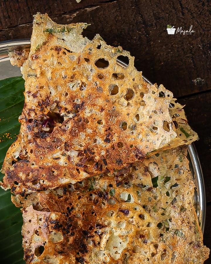 Crispy, crunchy, lacy & porous Rava Dosa