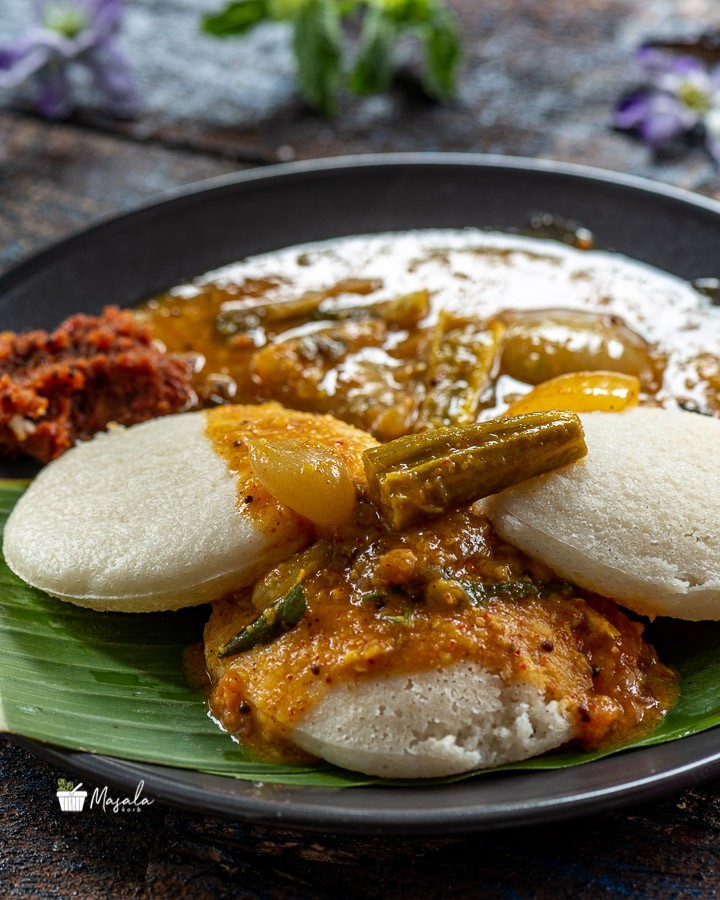 Sambar served with idli