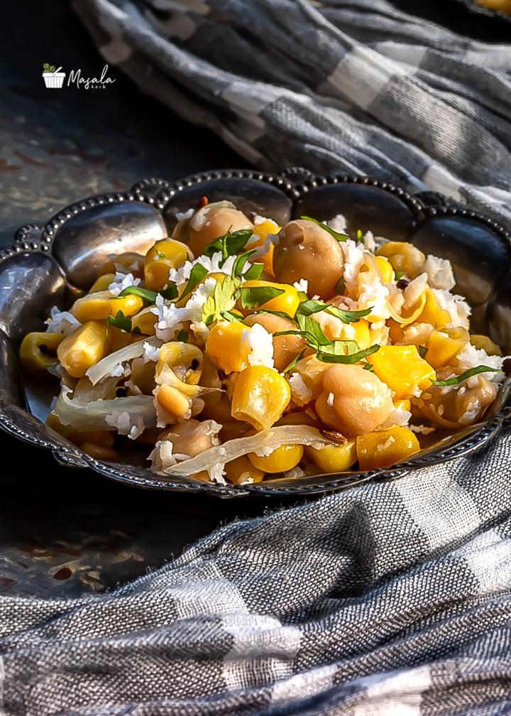 Corn Chickpea Salad