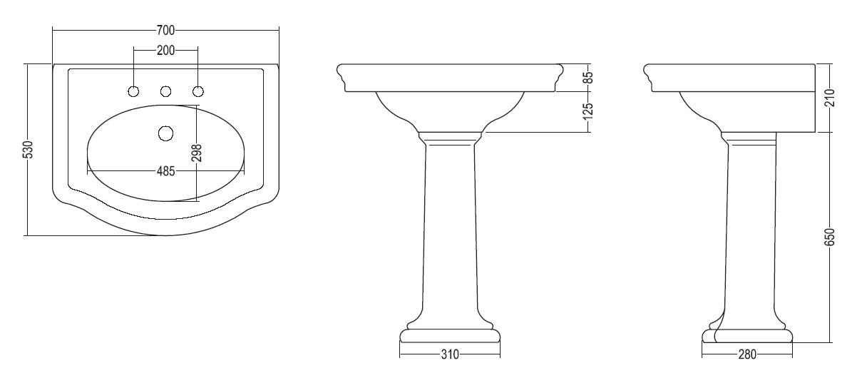 Norme hauteur lavabo salle de bain - Prise electrique salle de bain lavabo ...
