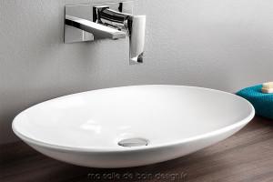 Vasque Ovale Plate La Fontana 60 X 42 Cm D Artceram A Bords Fins Achat Vente Sur Masalledebaindesign Fr