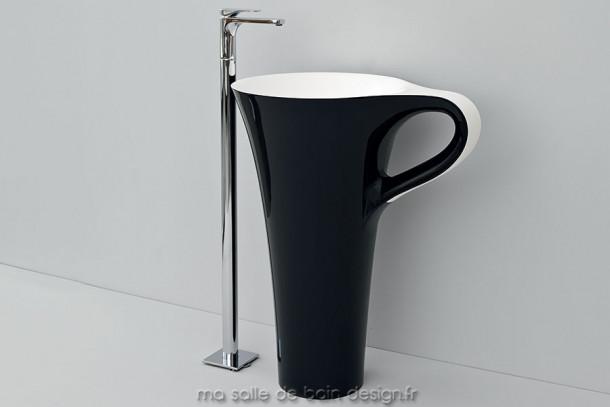 Cup Noir Et Blanc DArtceram Vasque Colonne Design En