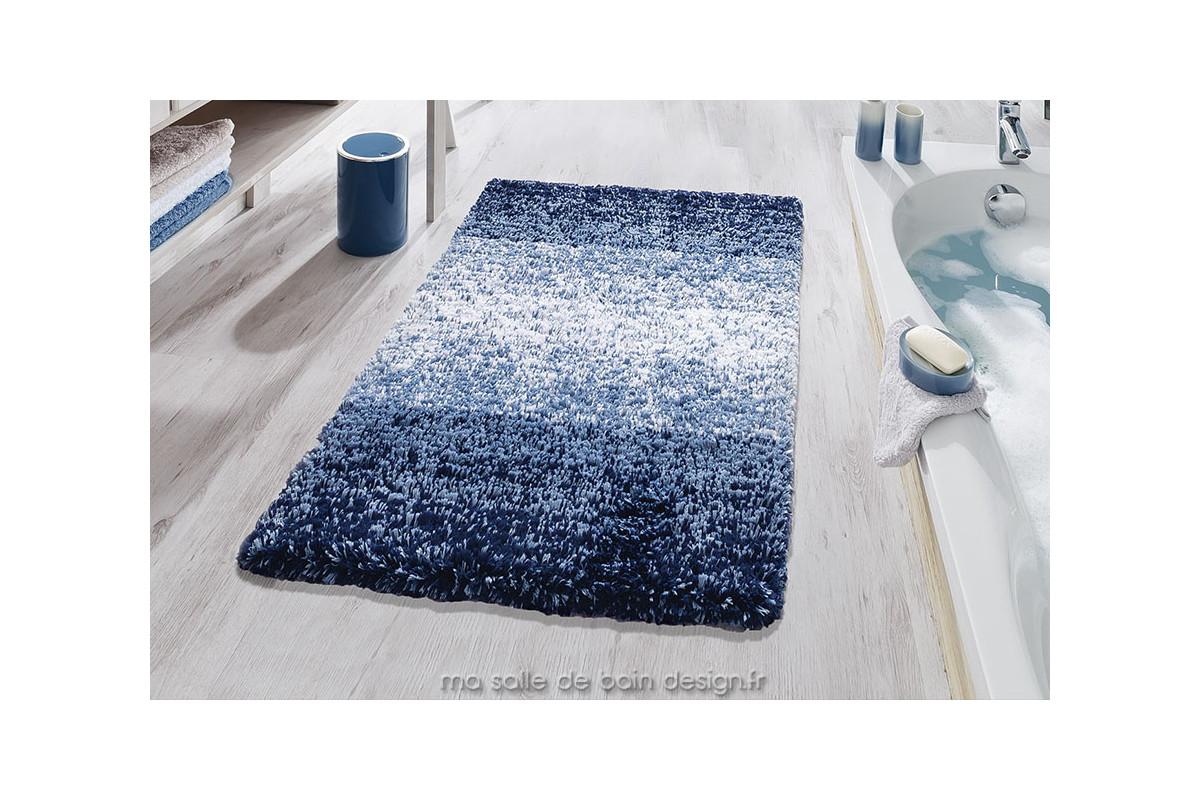 Tapis De Bains Moderne En Dgrad De Bleu Oslo De Kleine Wolke
