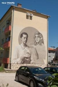 Mostar mural elfy
