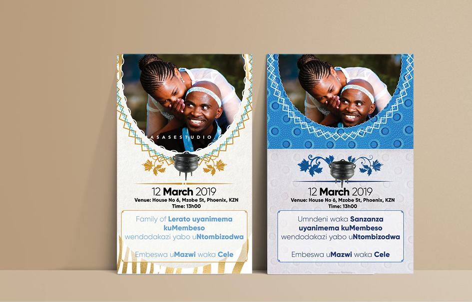 shweshwe-traditional-wedding-invitation-cards-tswana-sotho-pedi-zulu-venda-tsonga