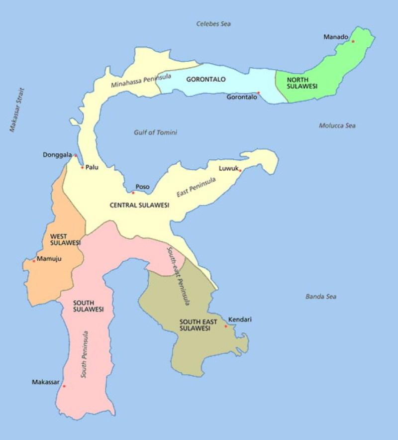 daftar kota di Provinsi Sulawesi Tenggara paling lengkap