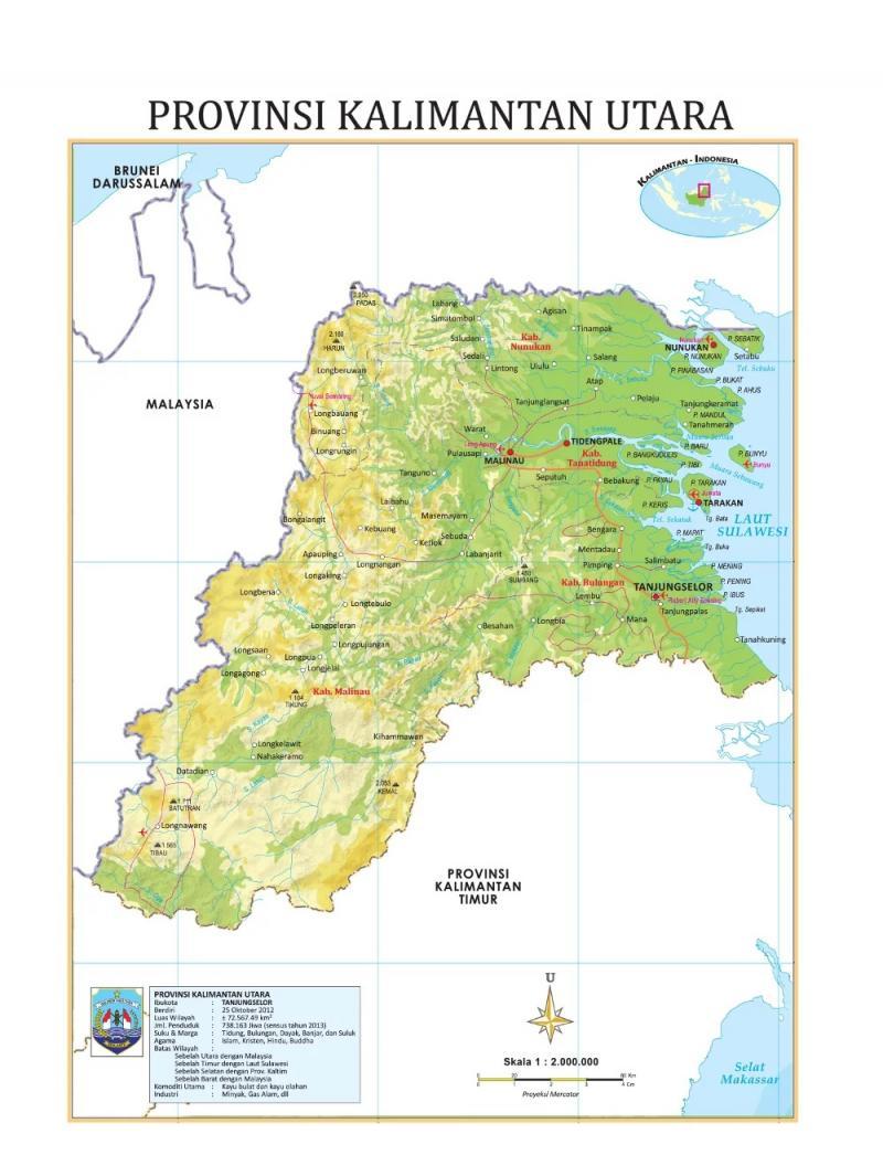 Daftar Kota di Kalimantan Utara paling lengkap