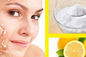 mascarilla de bicarbonato y limon