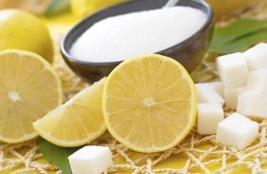 mascarilla de limon con azucar
