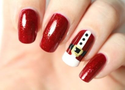 Diseños de manicure navideñas