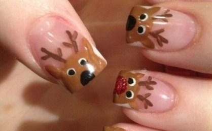 5 Diseños de manicure navideñas