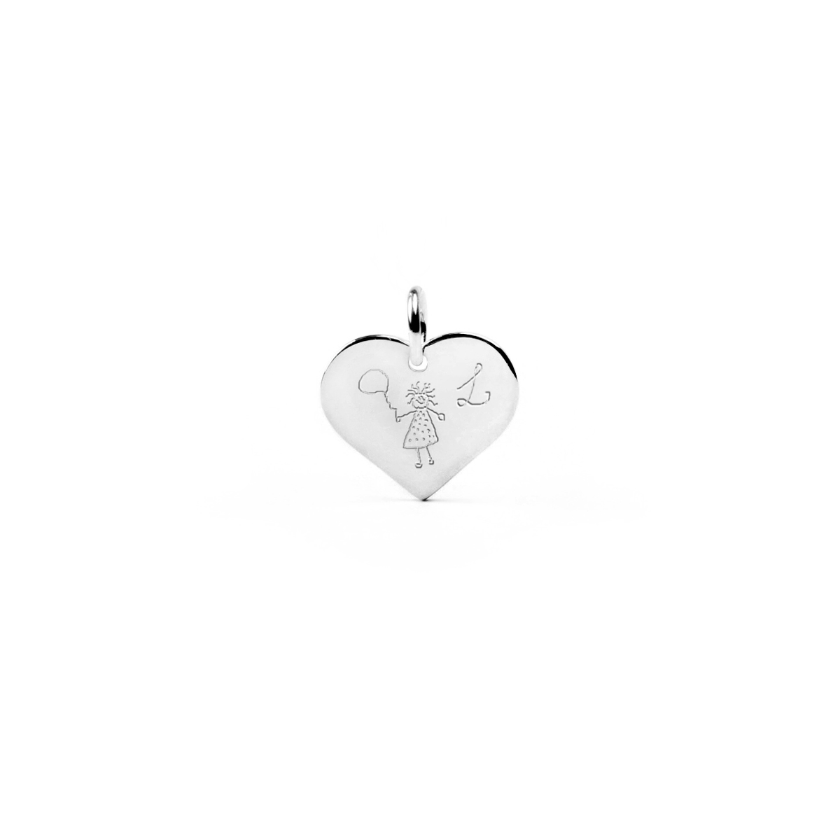 Heart-shape pendant 19 x 16 mm