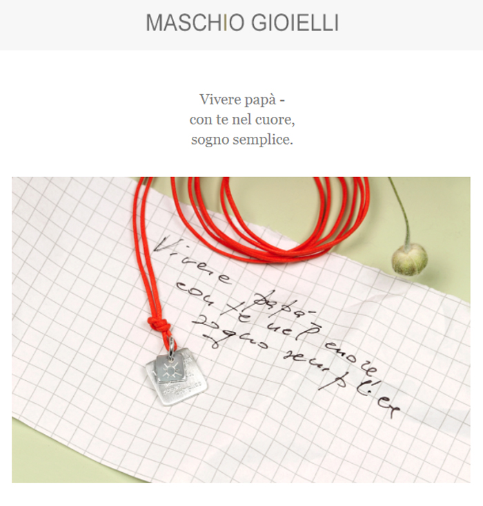 Newsletter Maschio Gioielli _ 19 marzo 2018 _ Holy Dad