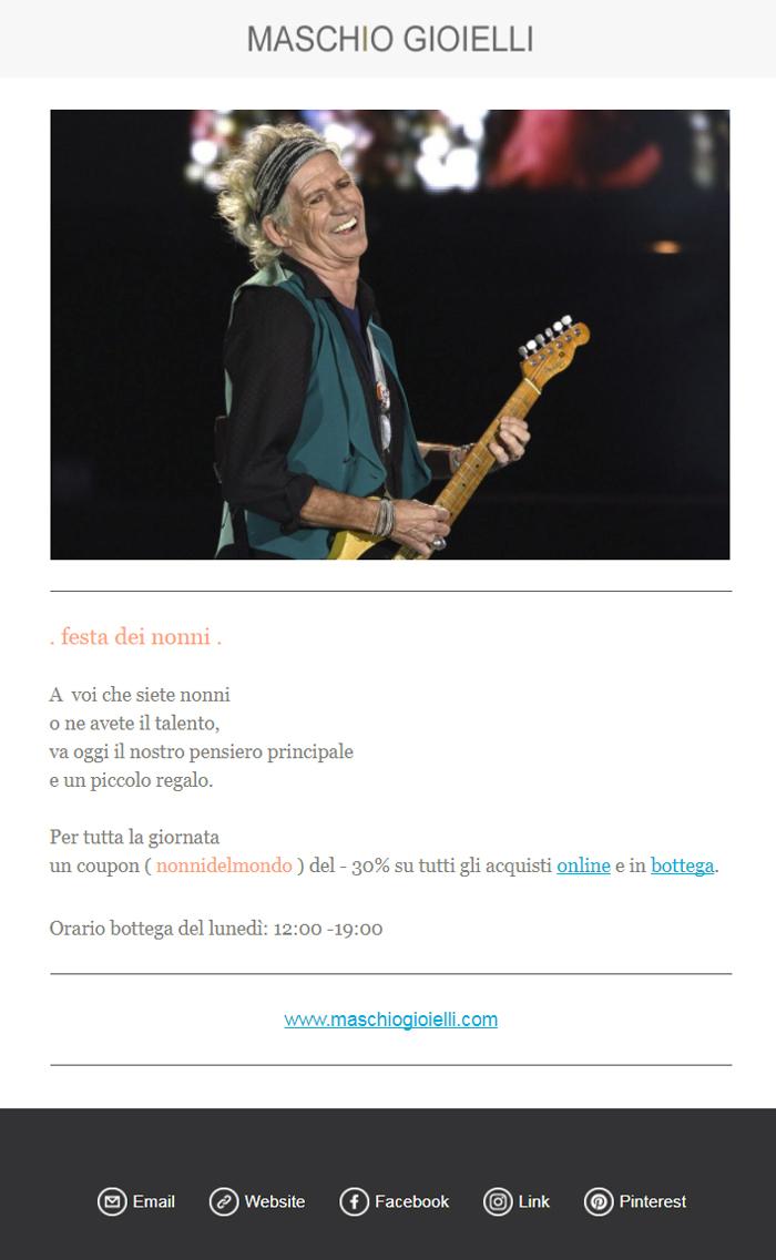 Newsletter Maschio Gioielli _Rock Nonni _ Festa dei nonni 2017