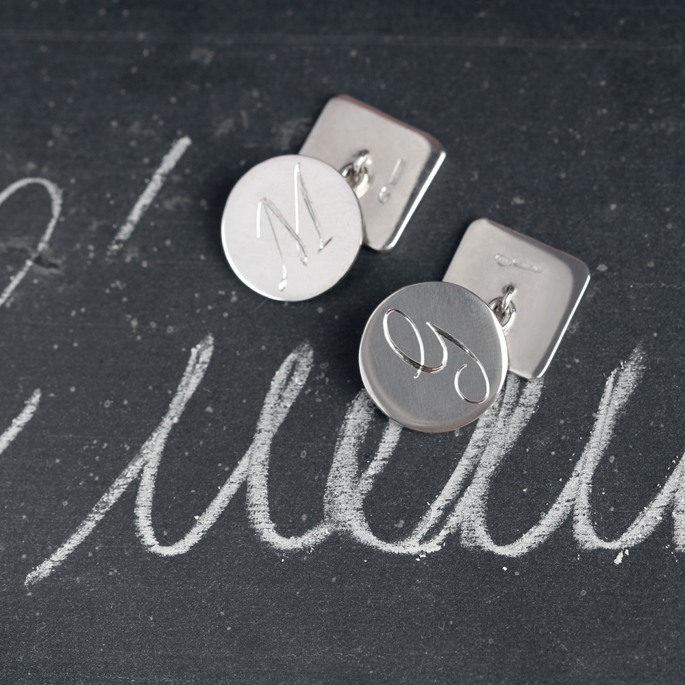 925 silver customized cuff links - gift for him _ initials cufflinks _ maschio gioielli milano
