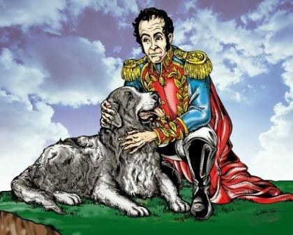 Foto del perro de Simón Bolívar