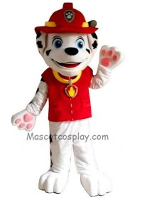 Paw Patrol Marshall Dog Adult Mascot Costume with Red