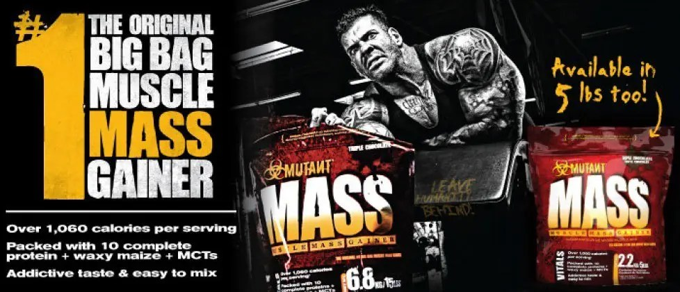 mutant mass review weight gainer rich piana